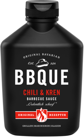 BBQUE Bayrische Barbecue Sauce Chili & Kren 400g